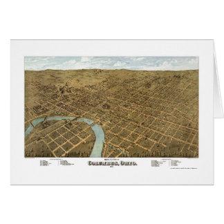 Carte panoramique de Columbus, OH - 1872