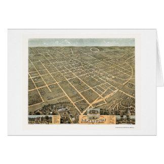 Carte panoramique de Lexington, KY - 1871
