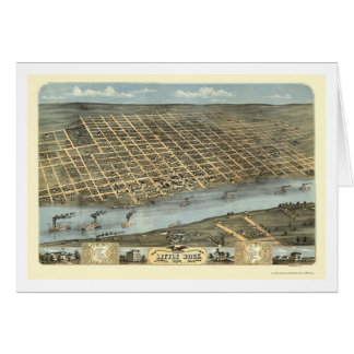 Carte panoramique de Little Rock, Arkansas - 1871