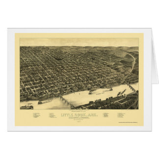 Carte panoramique de Little Rock, Arkansas - 1887