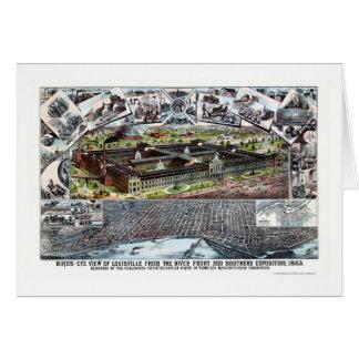 Carte panoramique de Louisville, KY - 1883