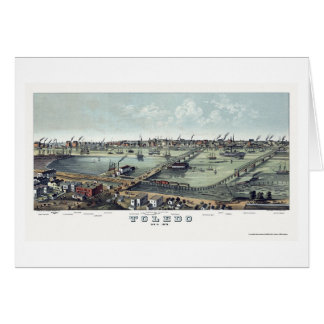 Carte panoramique de Toledo, OH - 1876