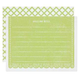 Carte Papeterie de bannière de coupe de papier - chaux