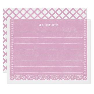 Carte Papeterie de bannière de coupe de papier - lilas