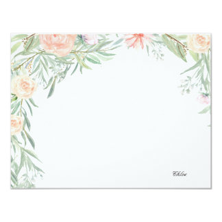 Carte Papeterie personnalisée par | florale d'auvent de