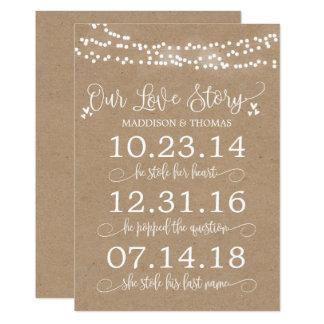 Carte Papier d'emballage allume notre décor de mariage