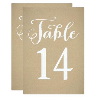 Carte | Papier d'emballage Brown de nombre de Carton D'invitation 8,89 Cm X 12,70 Cm