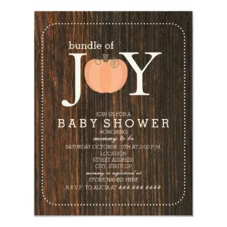 Carte Paquet de bébé inspiré par bois d'automne de