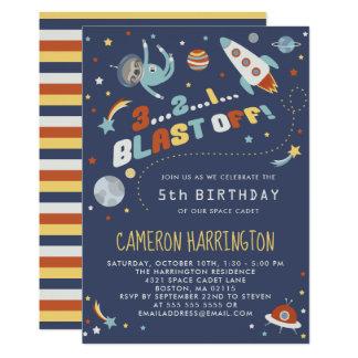 Carte Paresse d'Astro - partie d'anniversaire de enfant