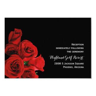Carte parfaite de réception de roses