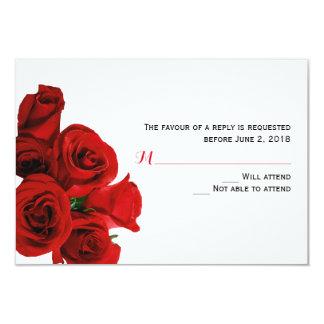 Carte parfaite de réponse de roses