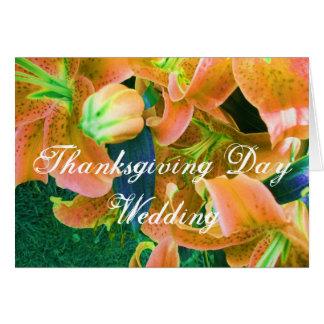 """Carte """"partagez ce de thanksgiving mariage de"""