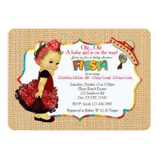 Carte Partie 083 d'invitations de baby shower de fiesta