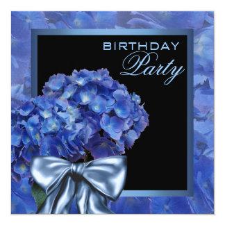 Carte Partie bleue d'hortensia