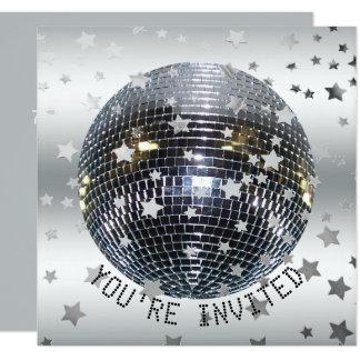 Carte Partie de disco de la fête d'anniversaire de danse