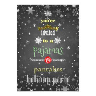Carte Partie de famille de pyjamas et de crêpes de