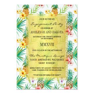 Carte Partie de fiançailles de destination d'ananas et