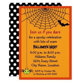 Carte Partie de Halloween