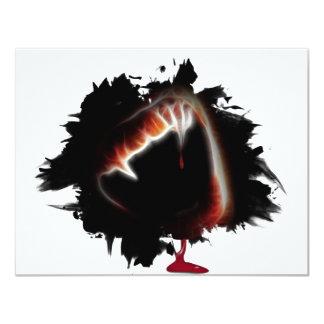 Carte Partie de Halloween du coup de grâce d'un vampire