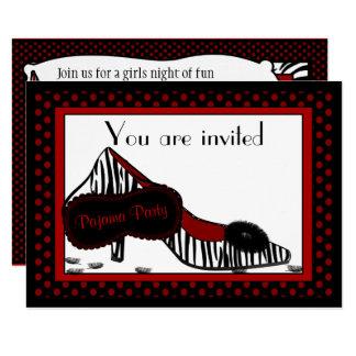 Carte Partie de pyjama de Bachelorette dans l'invitation