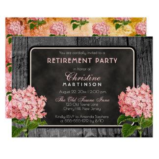 Carte Partie de retraite florale vintage de craie en