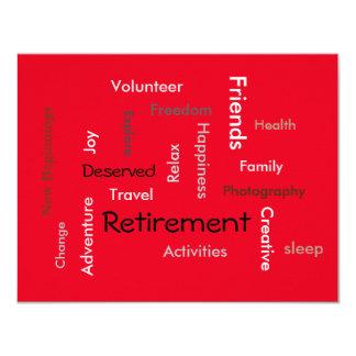 Carte Partie de retraite : (invitations de mots de