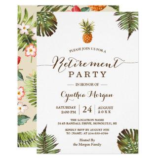 Carte Partie de retraite tropicale d'été d'ananas de