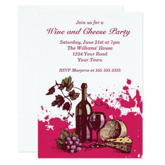 Carte Partie de vin et de fromage