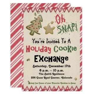 Carte Partie d'échange de biscuit de vacances/invitation