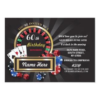 Carte Partie d'invitation de Las Vegas d'anniversaire de