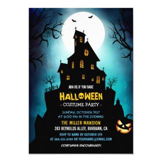 Carte Partie effrayante hantée déplaisante de Halloween