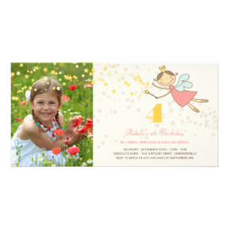 Carte Partie féerique lunatique d'anniversaire de enfant