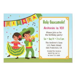 Carte Partie hispanique d'anniversaire de enfant de