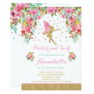 Carte Partie magique lunatique d'invitation féerique