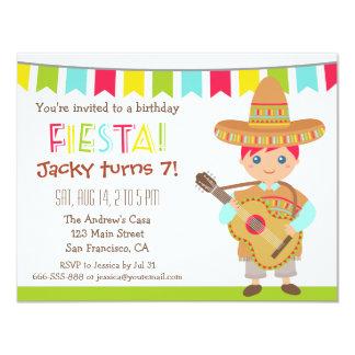 Carte Partie mexicaine d'anniversaire de enfant de