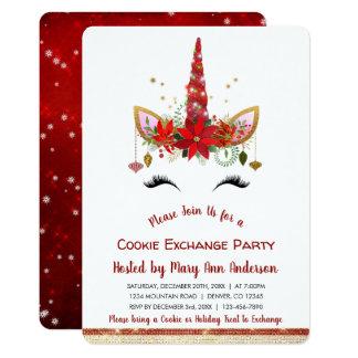 Carte Partie mignonne d'échange de biscuit de Noël de
