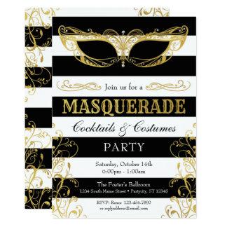 Carte Partie noire de costume de masque de mascarade de
