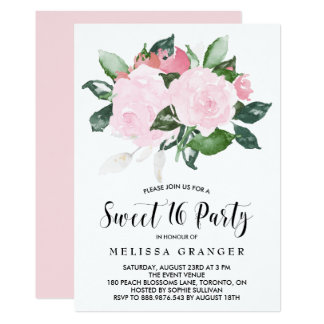 Carte Partie rose douce de sweet sixteen de roses