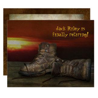 Carte Partie-vieilles bottes de retraite sur le bois