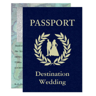 Carte passeport de mariage de destination