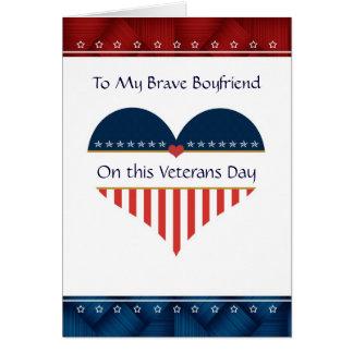 Carte patriotique de jour de vétérans d'ami de