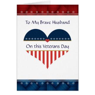 Carte patriotique de jour de vétérans de mari de