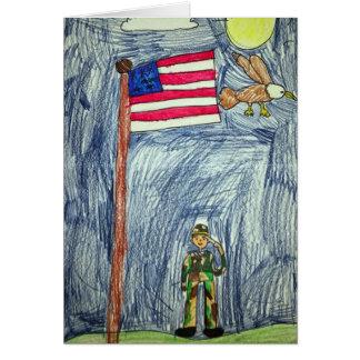 Carte patriotique de soldat - art par Ayla