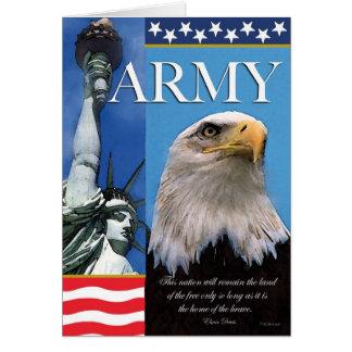 Carte patriotique de soutien de troupe d'armée
