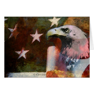 Carte patriotique de style vintage avec Eagle
