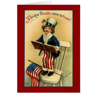 Carte patriotique vintage de griffonnage de Yankee