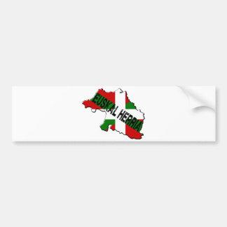 Carte pays basque plus drapeau euskal herria autocollant de voiture