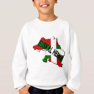 Carte pays basque plus drapeau euskal herria sweatshirt