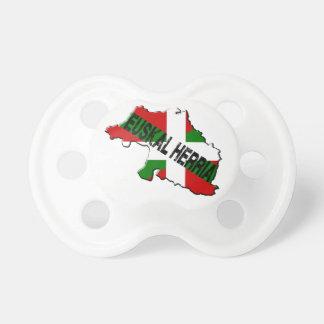 Carte pays basque plus drapeau euskal herria tétines pour bébé