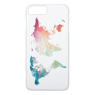 Carte peinte du monde coque iPhone 7 plus